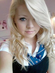 Amazing pic featuring lovely blonde teen