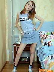 Mischievous teen hottie gives up her tight..
