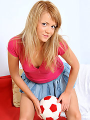 Gorgeous Karine teasingly exposing her pussy..