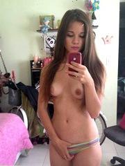 Skinny American girlfriend, photographed herself..