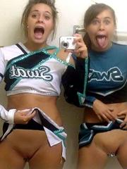 Wild schoolgirls having fun in the bathroom,..