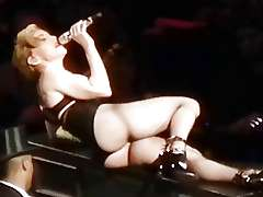 MADONNA near naked striptease..