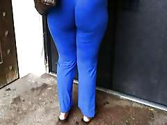 Big Blue ass, my voyeur hidden camera..