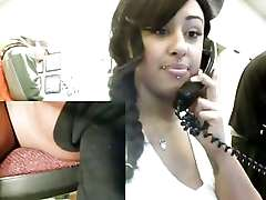 Sexy black babe homevideo