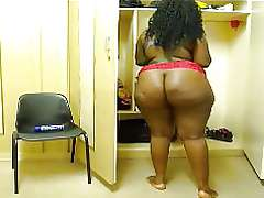 African BBW naked, hige big black ass